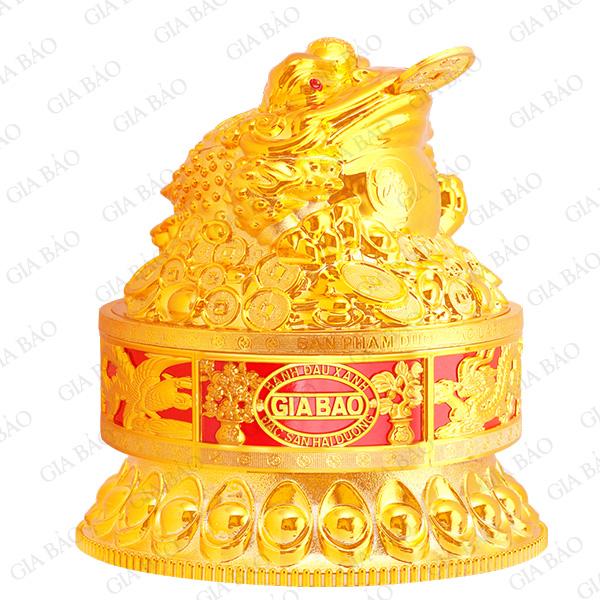 Hộp cóc vàng tròn có đế
