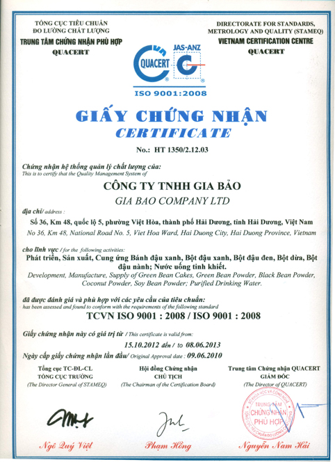 gcn iso9001 2008
